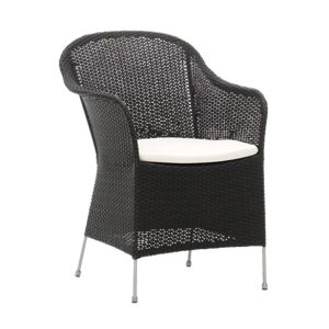 Athene chair - cushion - Rattan - black
