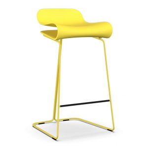 BCN-Slide-base-Barstool-Yellow-by-Kristalia