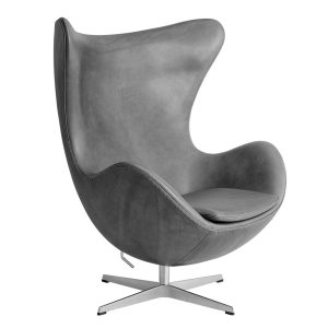 Egg-Lounge-Chair-Leather-Embrace-Concrete