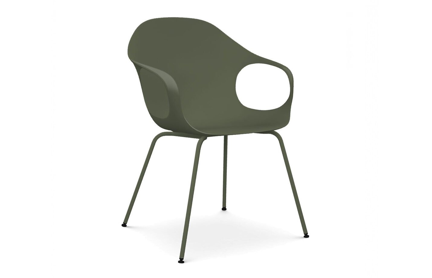 Elephant-dining-chair-Olive-Green-by-Kristalia