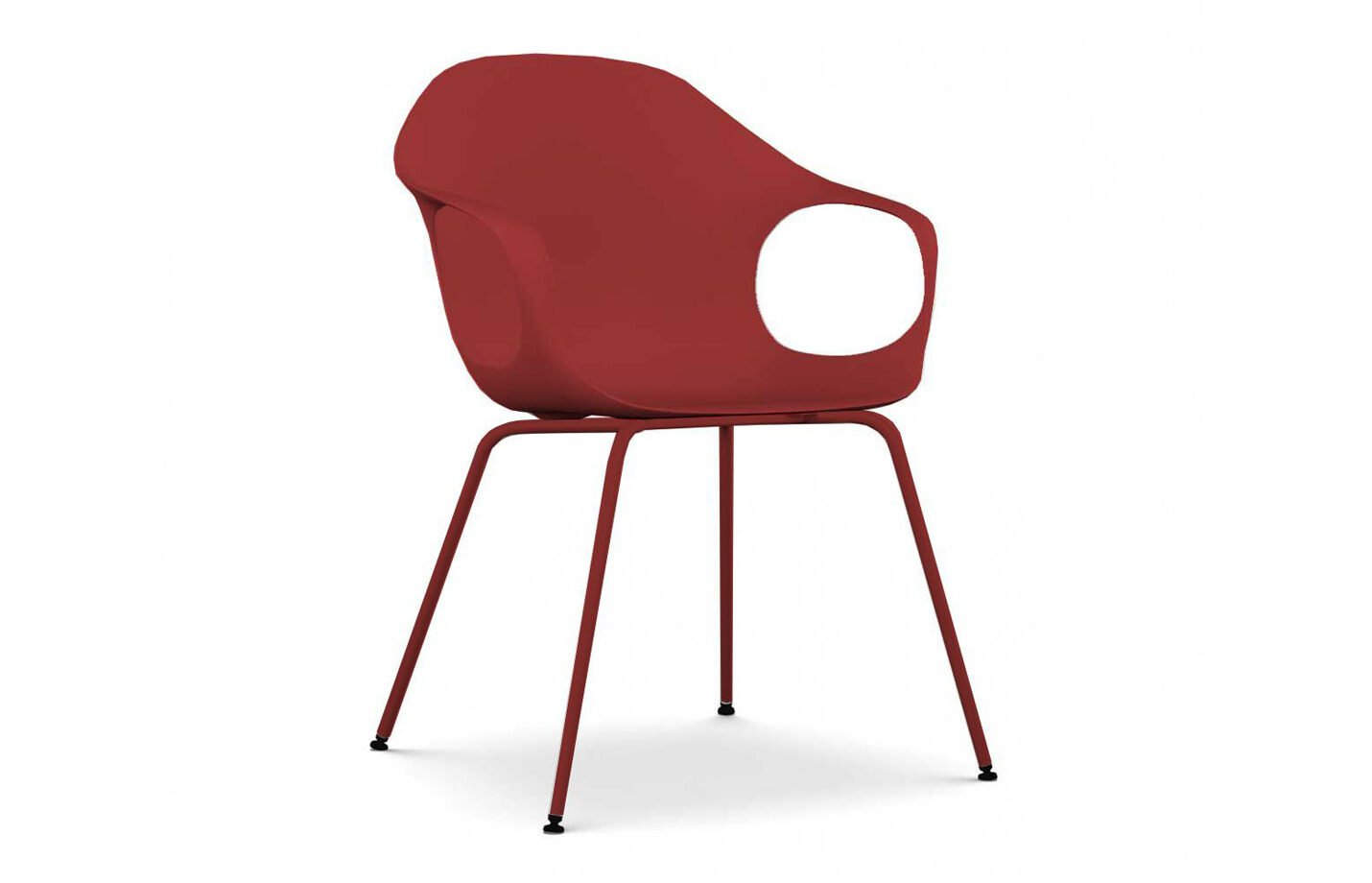 Elephant-dining-chair-Ruby-red-by-Kristalia