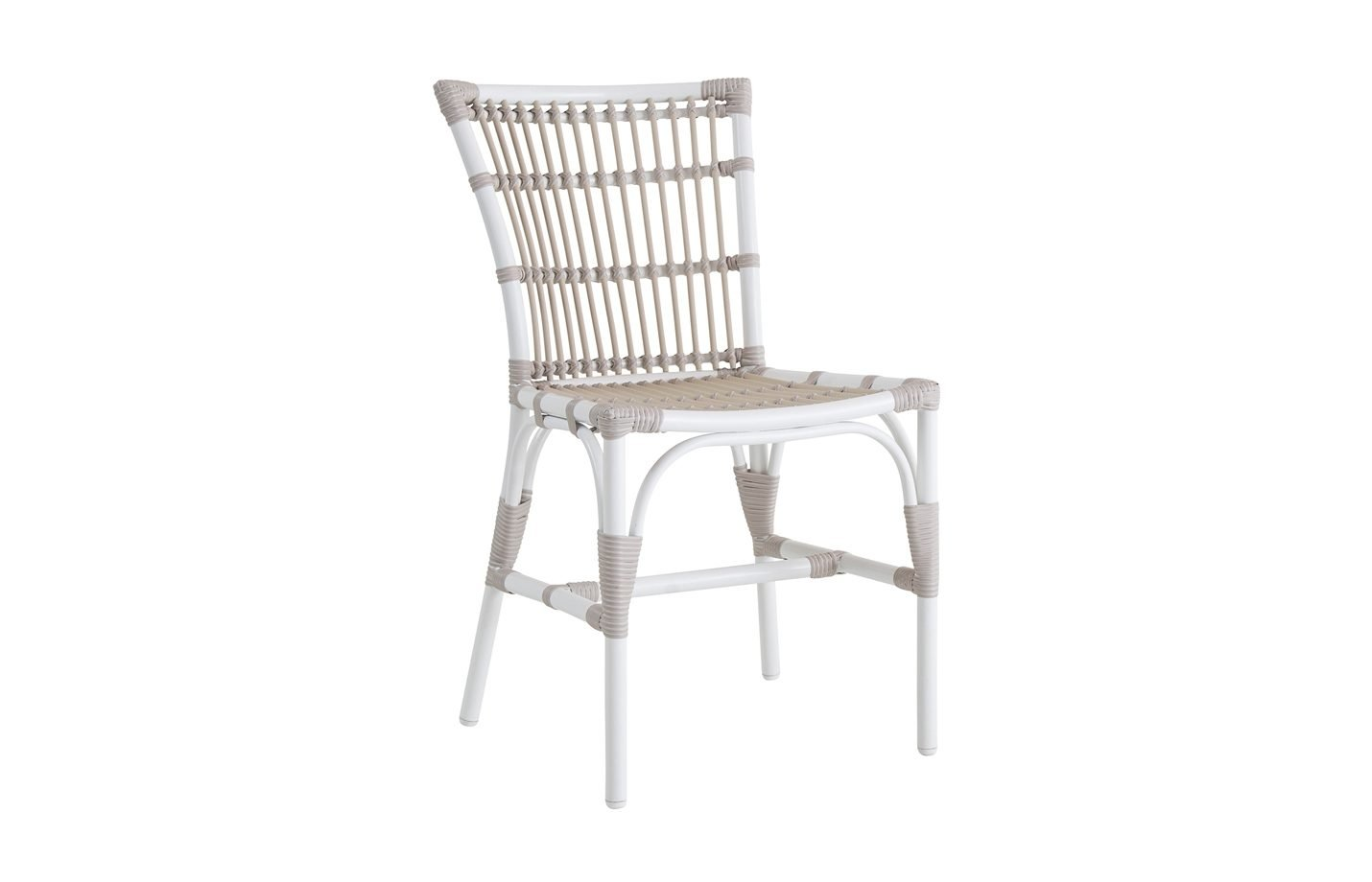 Elisabeth chair - Alu rattan - dove - white