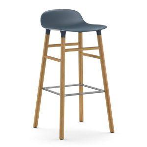 Form-Barstool-75cm-Oak-Blue-Normann