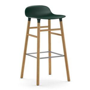 Form-Barstool-75cm-Oak-Green-Normann