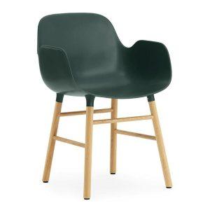 Form-armchair-oak-Green-by-Normann