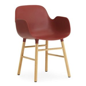 Form-armchair-oak-Red-by-Normann