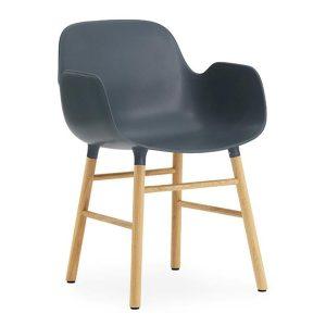 Form-armchair-oak-blue-by-Normann