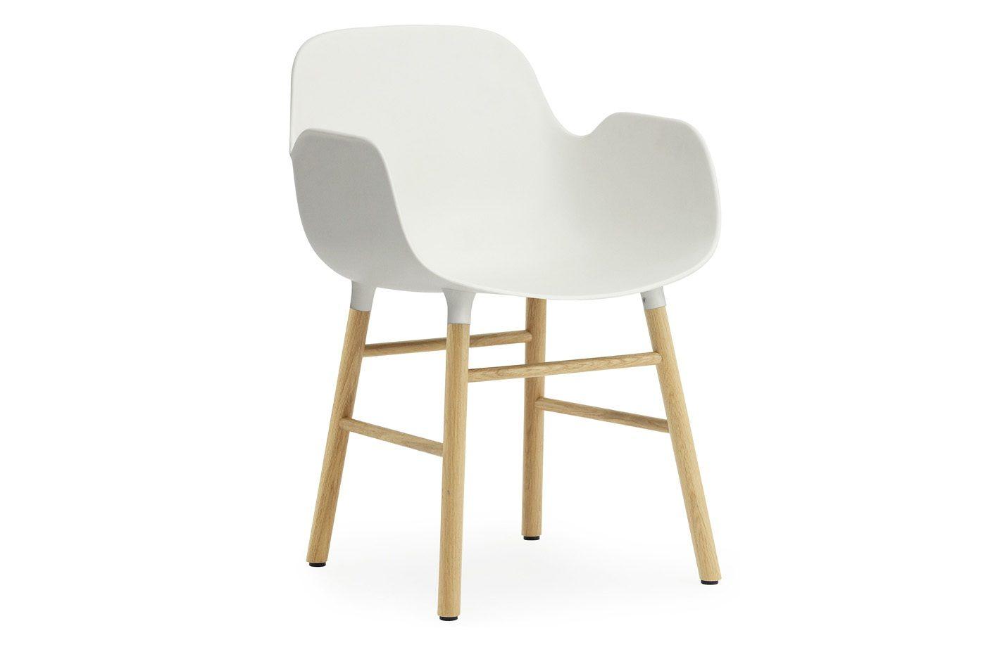 Form armchair - oak - white