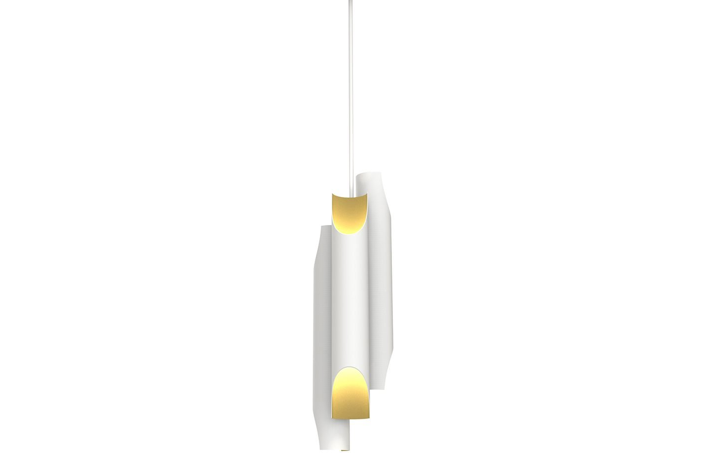 Galliano pendant lamp - White - gold