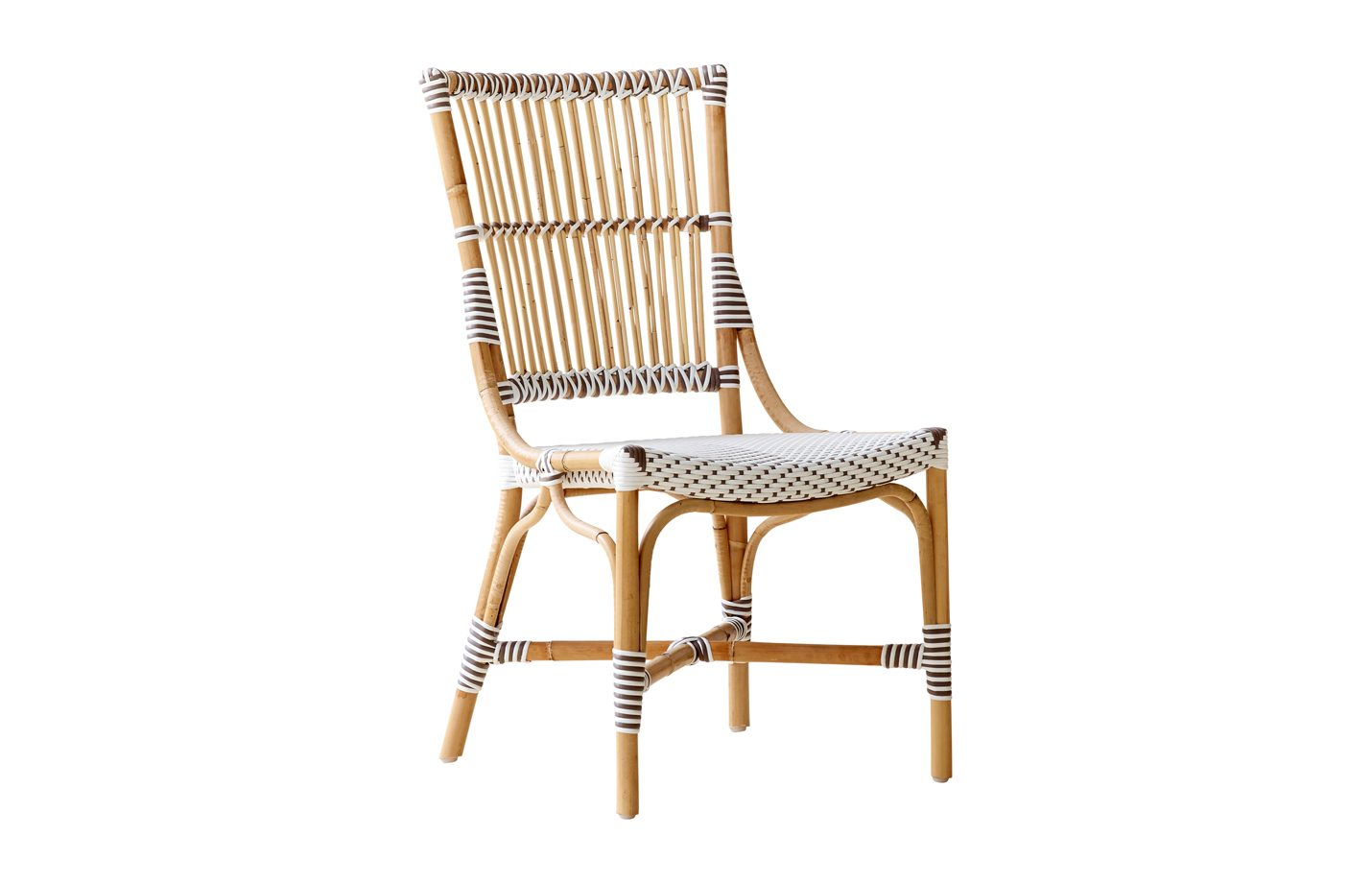 Monique chair - Rattan - White - cappuccino