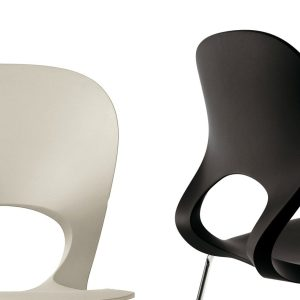 Pikaia-Four-Legs-chair-Beige-Black-by-Kristalia