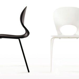 Pikaia-Four-Legs-chair-white-Black-by-Kristalia