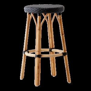 Simone-bar-stool-black-black-dot
