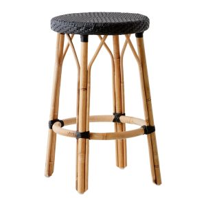 Simone Stool Black - Black dot