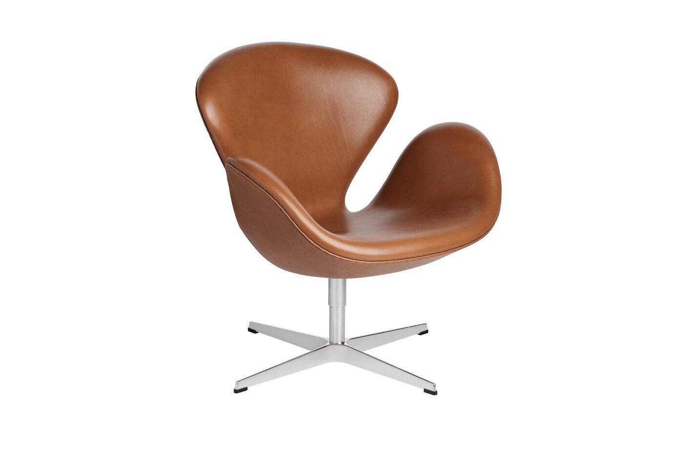 Swan-lounge-chair-Leather-Grace-Walnut