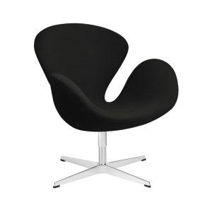 Swan-lounge-chair-fabric-Christianshavn-Black-Uni