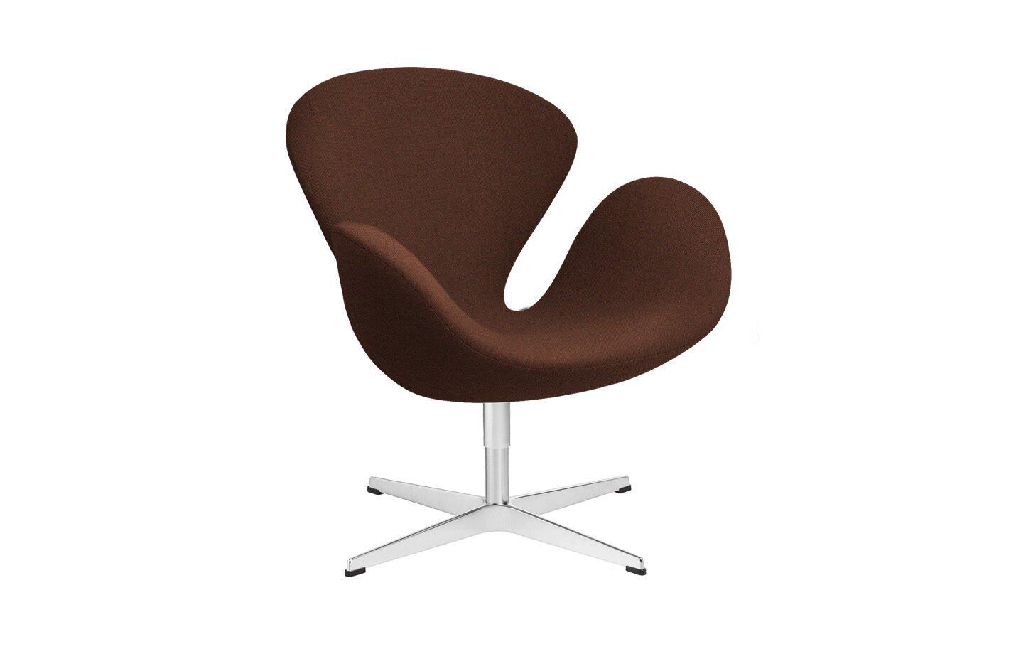 Swan-lounge-chair-fabric-Christianshavn-Dark-Orange