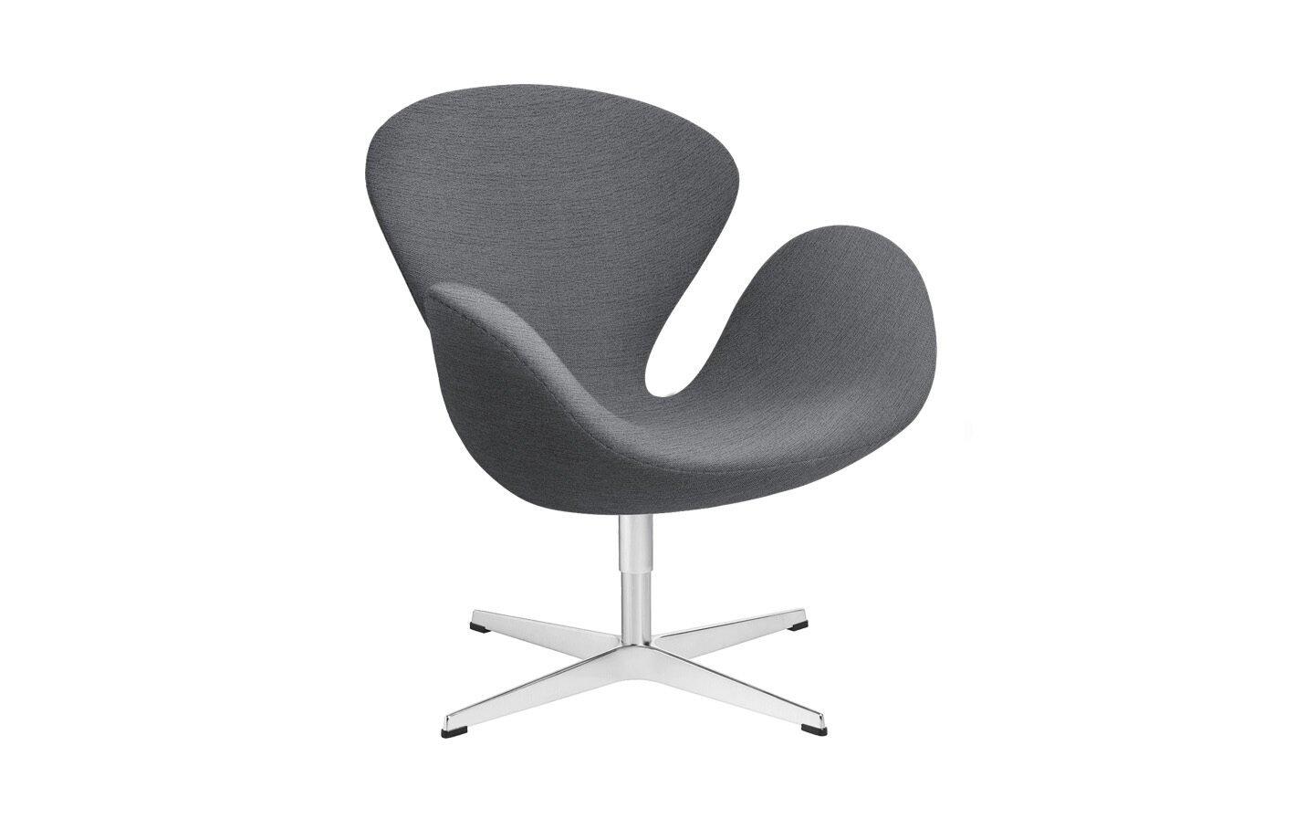 Swan-lounge-chair-fabric-Christianshavn-Light-Grey
