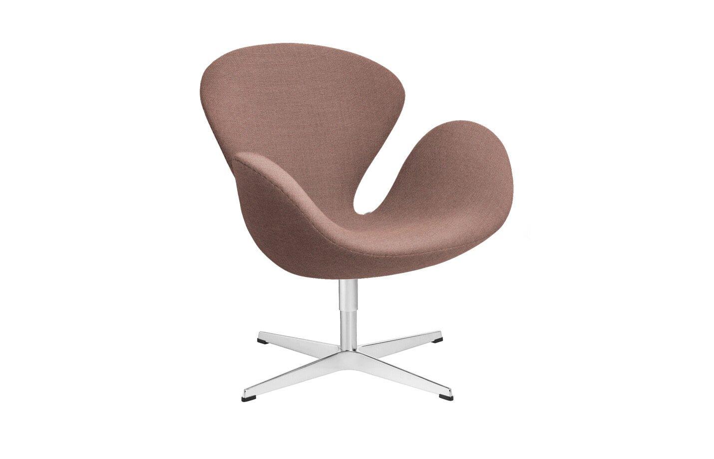 Swan-lounge-chair-fabric-Christianshavn-Orange-Red