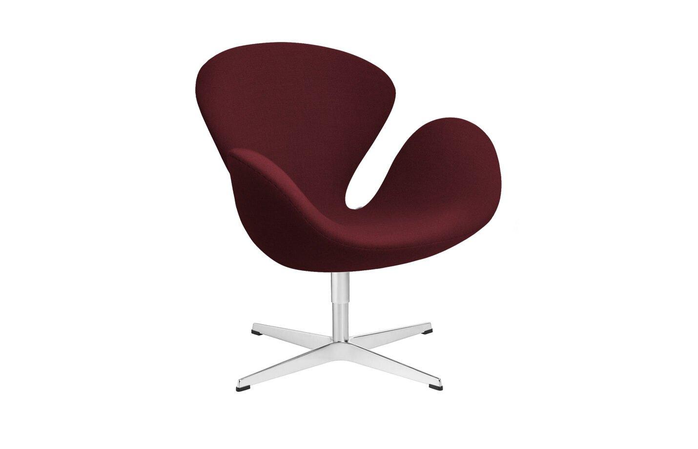 Swan-lounge-chair-fabric-Christianshavn-Red-Uni