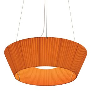 Reverse Upwards Pendant Light - Orange