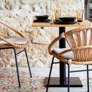 Cruz-Kiki-dining-chair-Rattan-with-metal-base-LS01