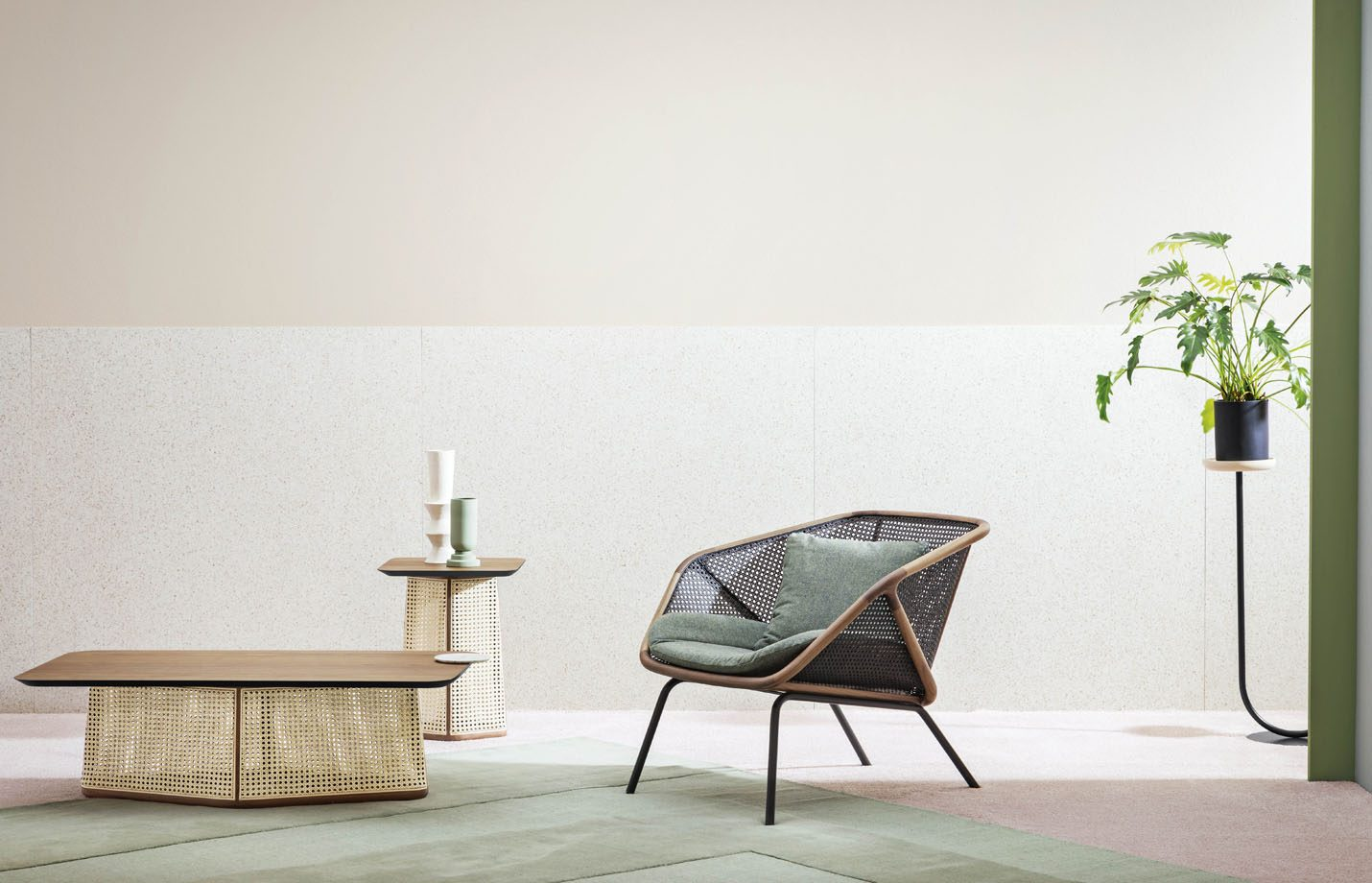 Colony-designer-lounge-armchair-cane-LS01