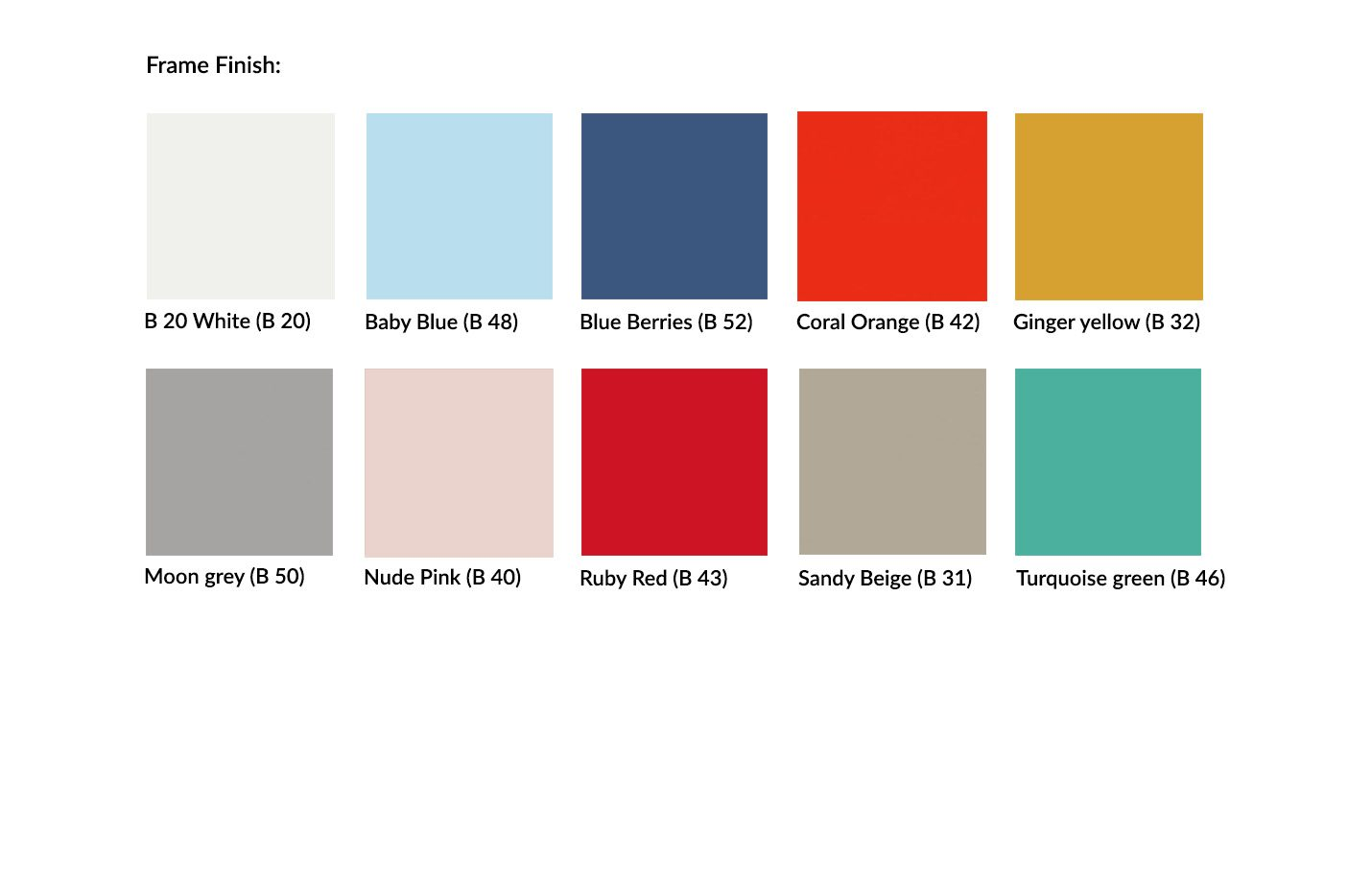 Ton Beech Frame Pigment Finishes